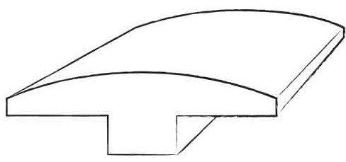 0.38 x 2 x 78 Hickory T-Molding in Dark Shadow / Dark Shadow by Welles Hardwood