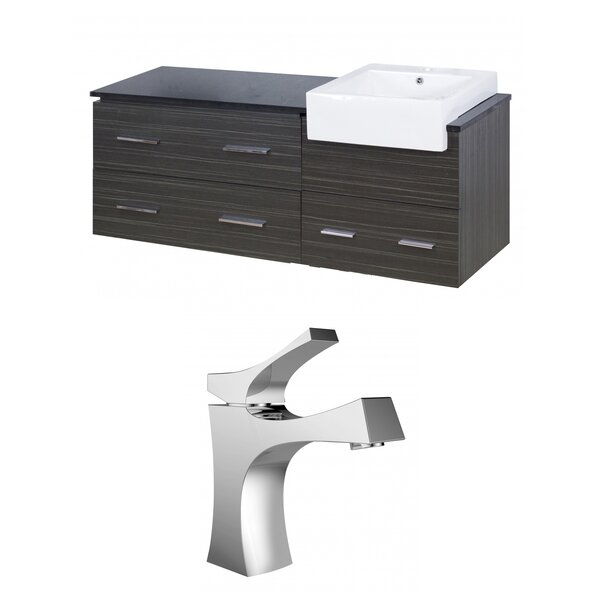 Hindman 61 Wall-Mounted Single Bathroom Vanity Set by Royal Purple Bath Kitchen