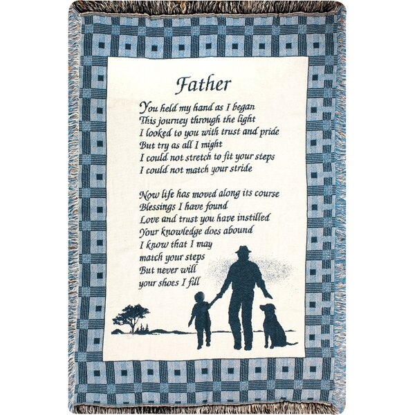 Father You Held 2 Layer Cotton Throw by Manual Woodworkers & Weavers