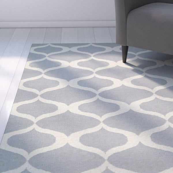 Dominic Gray/Cream Indoor/Outdoor Area Rug by Ebern Designs