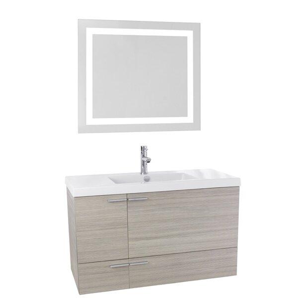 Urbain 39 Wall-Mounted Single Bathroom Vanity Set with Mirror