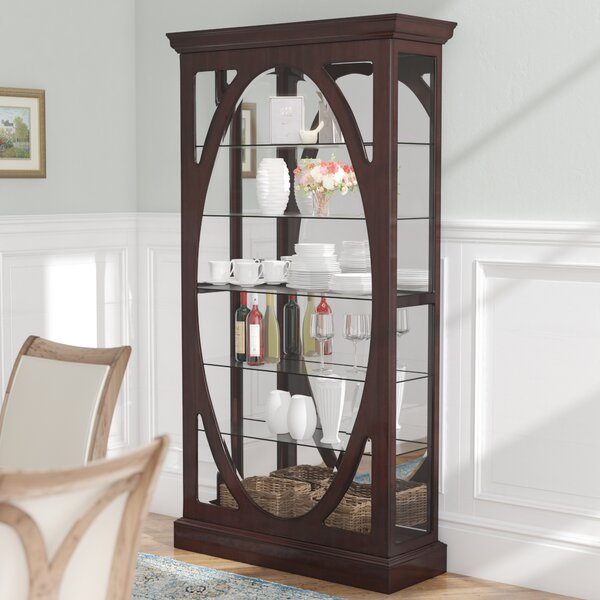 Tiano Solid Freestanding Curio Cabinet by Charlton Home