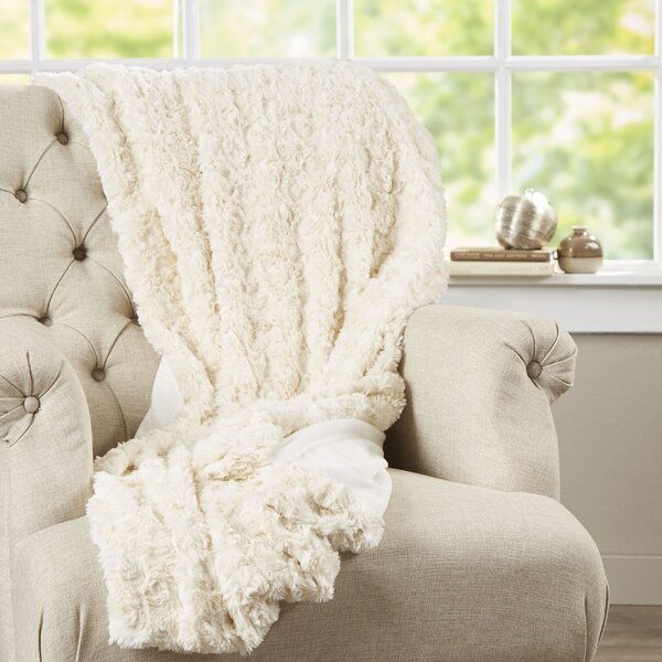 Bursaite Faux Fur Throw by House of Hampton