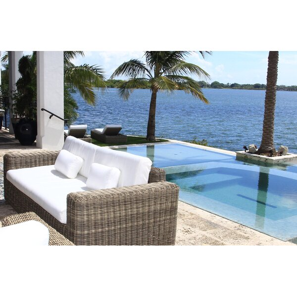 Mauzac Patio Sofa with Cushions by Longshore Tides