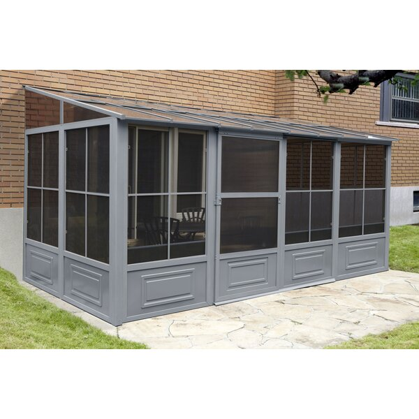 All Season 16 Ft. W x 8 Ft. D Metal Wall Mounted Patio Gazebo by Gazebo Penguin