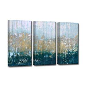 'Harbour Point' 3 Piece Framed Painting Print Set by Trent Austin Design