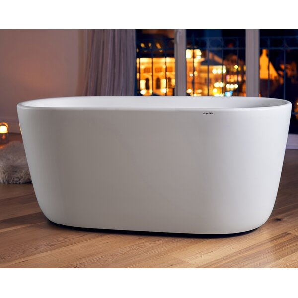 Lullaby-Mini 55 x 27.5 Freestanding Soaking Bathtub by Aquatica