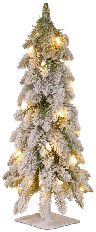 24 white artificial christmas tree with 50 clear lights - White Artificial Christmas Trees