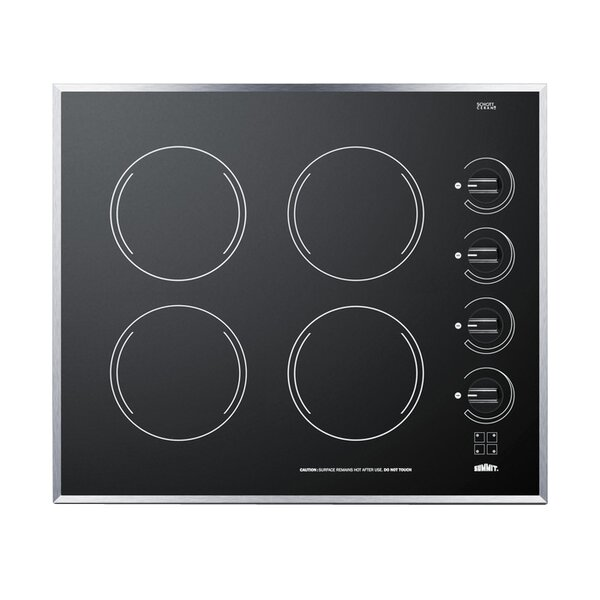 Summit 24 ElectricRadiant Cooktop with 4 Burners b
