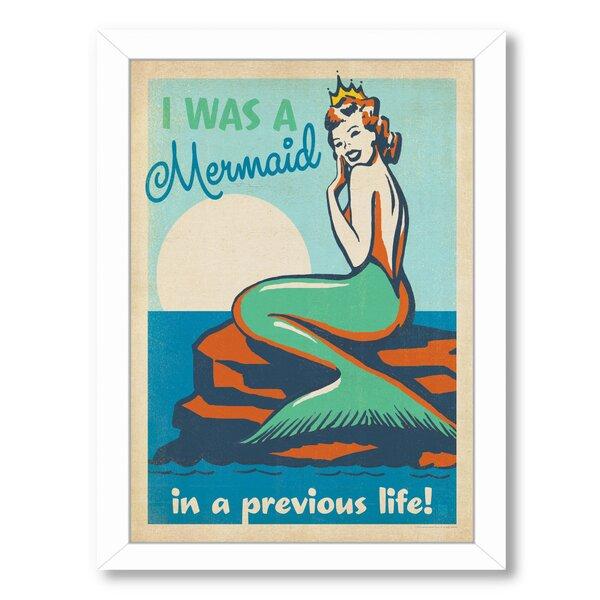 Mermaid Queen Framed Vintage Advertisement by East Urban Home