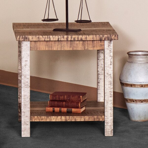 Deeter Farmhouse End Table by Highland Dunes Highland Dunes