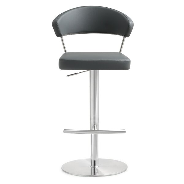 Mcghee Adjustable Height Swivel Bar Stool by Orren Ellis