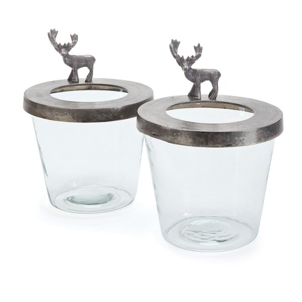 Glass Hurricane (Set of 2) by Loon Peak