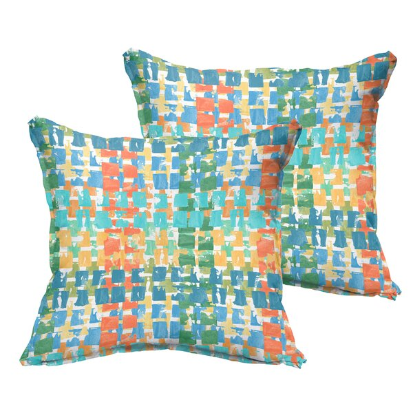 Momea Flange Indoor/Outdoor Throw Pillow (Set of 2) by Bungalow Rose
