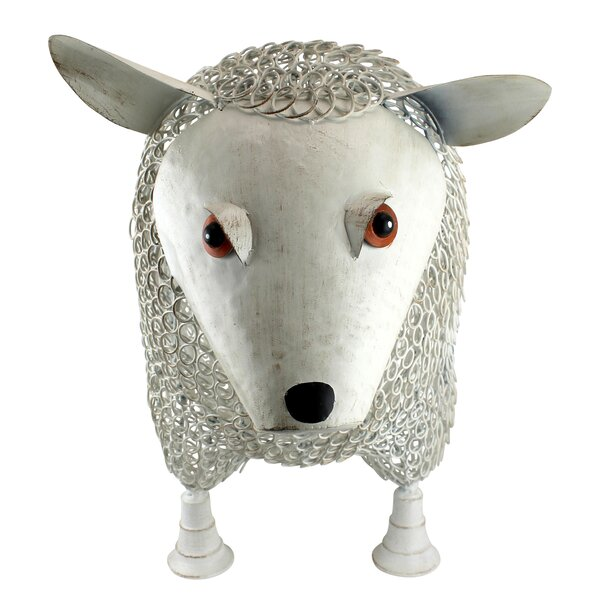 Sheep Settee Sculptural Metal Garden Bench by Design Toscano