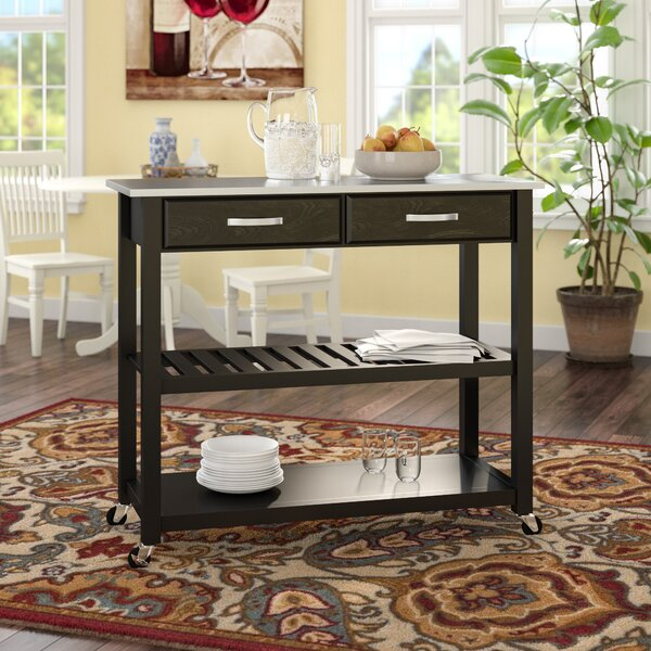 Gothard Kitchen Island with Stainless Steel Top by Three Posts