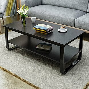 Compare Horrell 2 Tier Polished Surface Multi Function Coffee Table By Wrought Studio