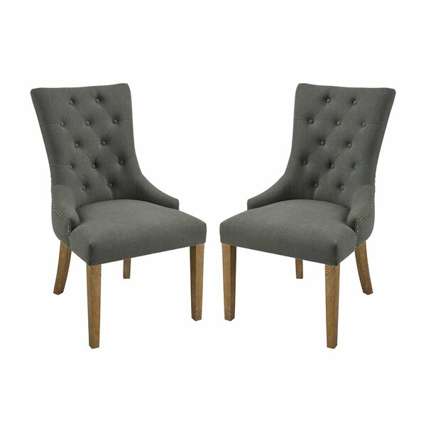 Omar Upholstered Dining Chair (Set of 2) by One Allium Way One Allium Way