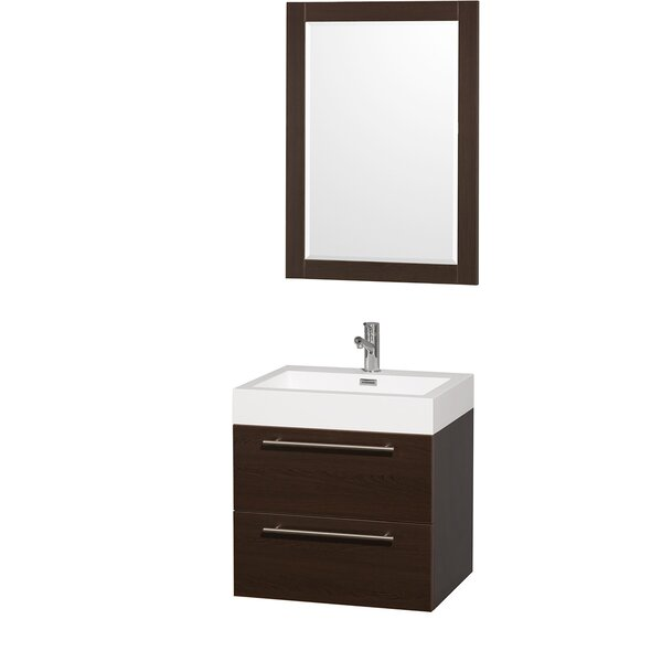 Amare 23 Single Espresso Bathroom Vanity Set with Mirror by Wyndham Collection