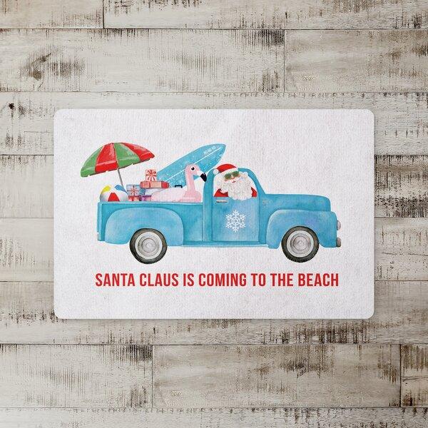 Kaela Santa Claus Sea Cruiser Kitchen Mat