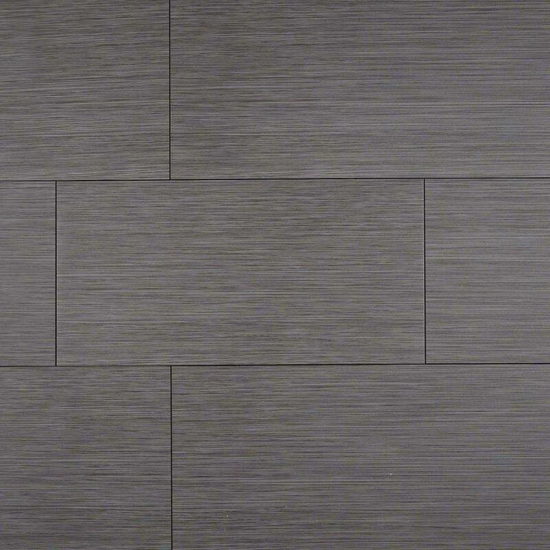 "MSI Focus Graphite 12"" X 24"" Porcelain Wood Look/Field"
