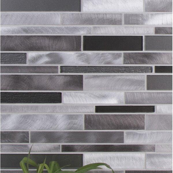 Twilight Random Sized Aluminum/Glass Tile in Gray by WS Tiles