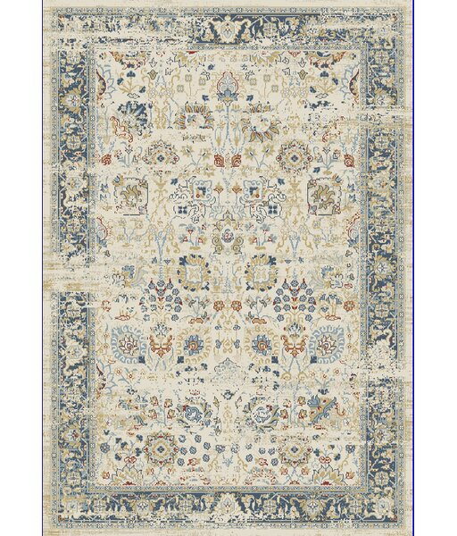 Essence Ivory/Light Blue Area Rug by Dynamic Rugs