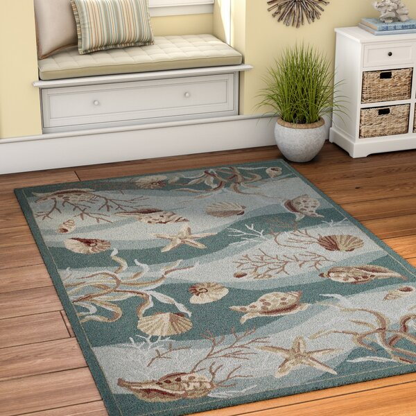 Chamberlin Hand-Woven Green/Ivory Area Rug by Beachcrest Home