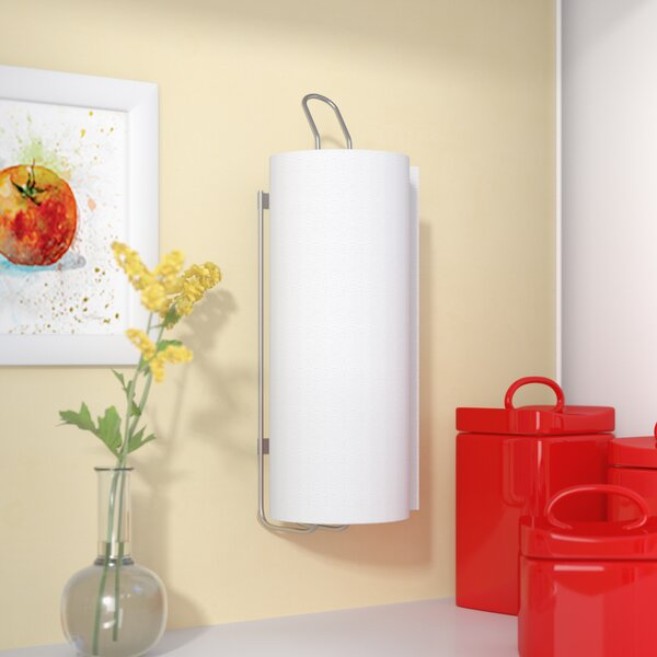Wall-Mounted Paper Towel Holder by Rebrilliant