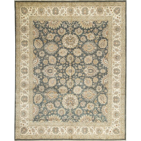 One-of-a-Kind Hand-Knotted Wool Green/Beige Area Rug by Bokara Rug Co., Inc.