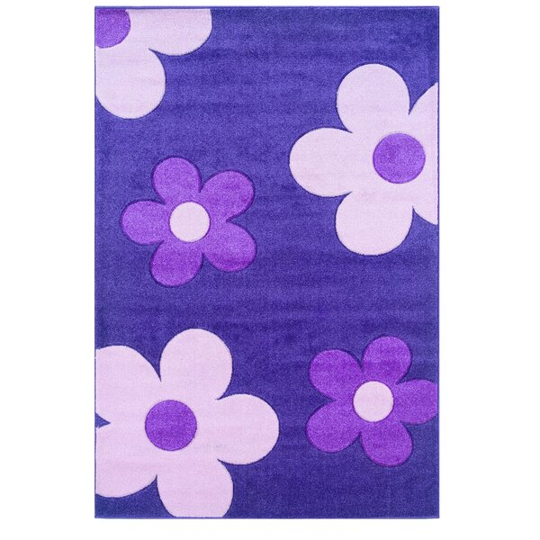 Purple/Pink Area Rug by Threadbind