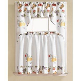 Gironde Pear 3 Piece Kitchen Curtain Set