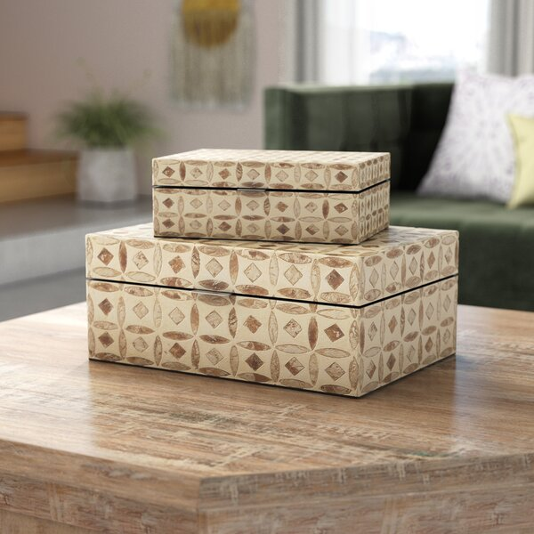 Jodi 2 Piece Decorative Inlay Box Set by Mistana