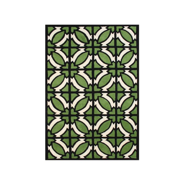 Umatilla Hand-Tufted Green Area Rug by The Conestoga Trading Co.
