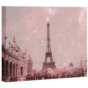 Stardust Covering Vintage Paris Memorabilia Wall Art on Wrapped Canvas by East Urban Home
