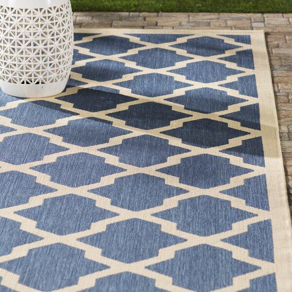 Larson Blue/ Beige Indoor/Outdoor Area Rug by Sol 72 Outdoor