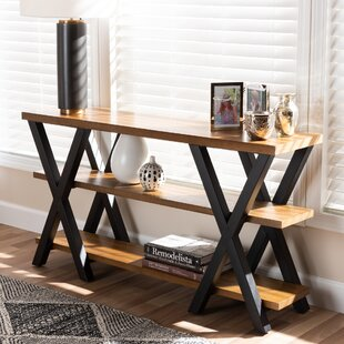 Compare Bellamira Vintage Rustic Industrial Console Table By Union Rustic