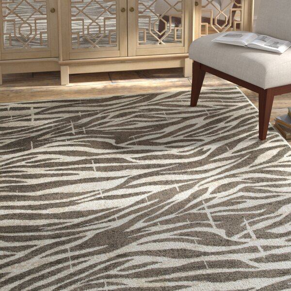 Wali White/Coconut Hush Indoor Area Rug by Bloomsbury Market