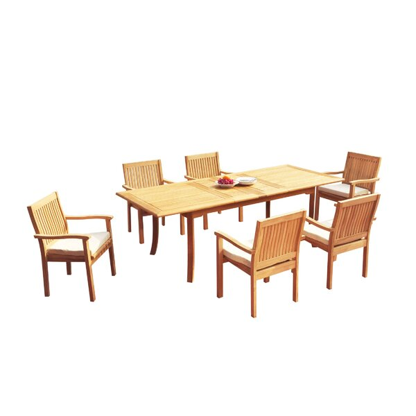 Mashburn 7 Piece Teak Dining Set