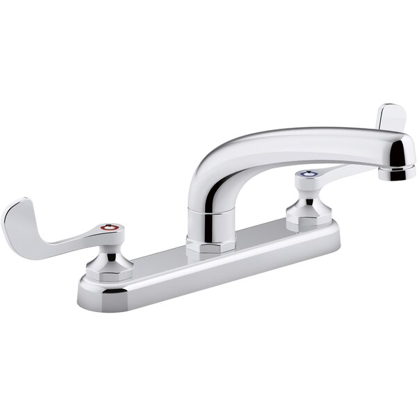 1.5 gpm Triton Bowe 1.5 gpm Kitchen Sink Faucet with 8-316 In. Swing Spout Aerated Flow and Wristblade Handles by Kohler Kohler