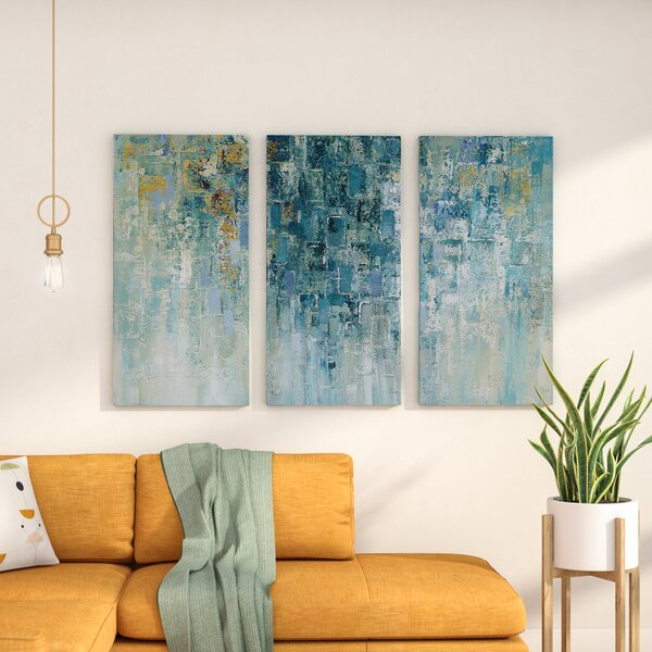 I Love The Rain Acrylic Painting Print Multi Piece Image On Gallery Wrapped Canvas By George Oliver.