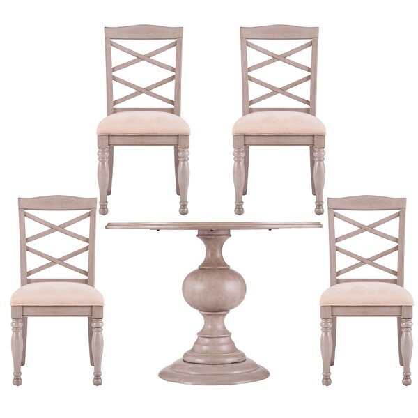 Brandsmere Traditional 5 Piece Dining Set by Ophelia & Co. Ophelia & Co.