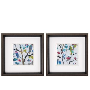 'Woodland Story' 2 Piece Framed Painting Print Set by Propac Images