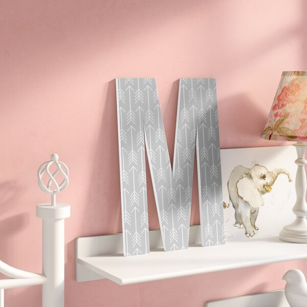 Heilig Grey with Arrows Oversized Hanging Initials by Viv + Rae