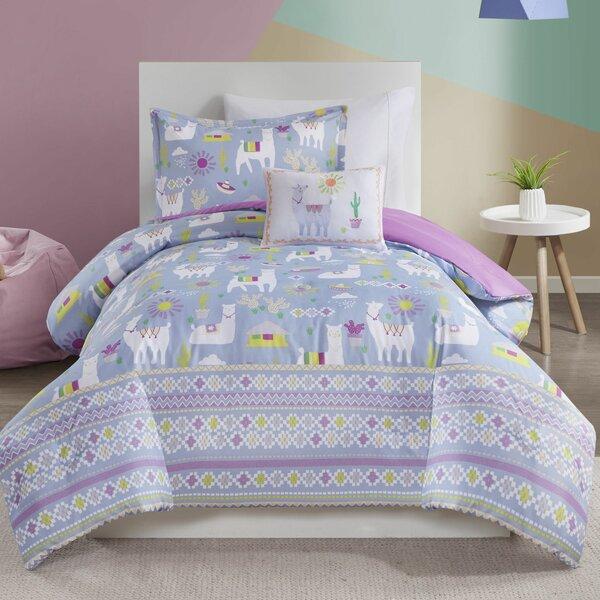 Sturbridge Printed Llama Comforter Set by Zoomie Kids