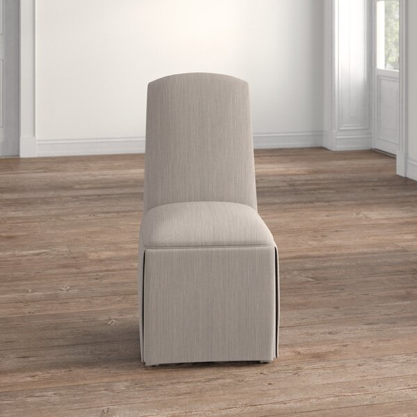 Lamoille Traditional Upholstered Skirted Side Chair By Darby Home Co