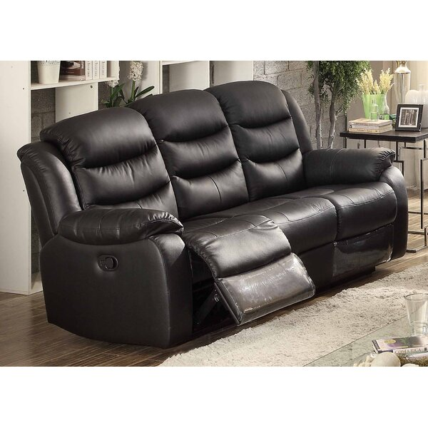 Chic Bennett Leather Reclining Sofa by AC Pacific by AC Pacific