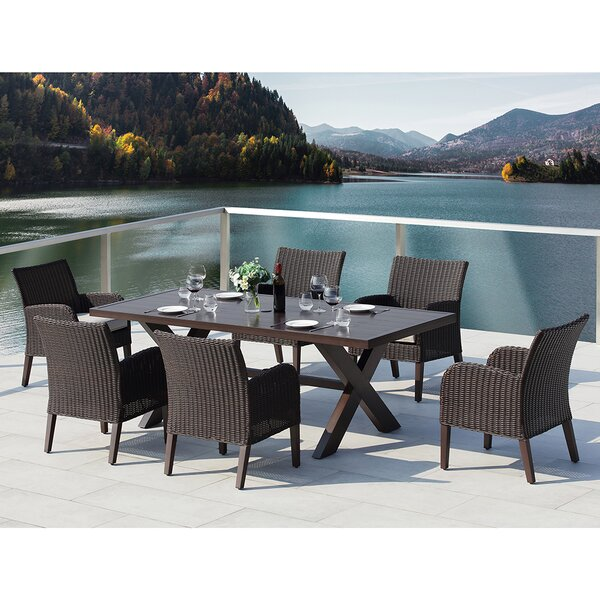 Majorca III 7 Piece Dining Set with Cushions by Ove Decors
