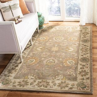 Cranmore Handmade Wool Brown/Ivory Area Rug by Charlton Home