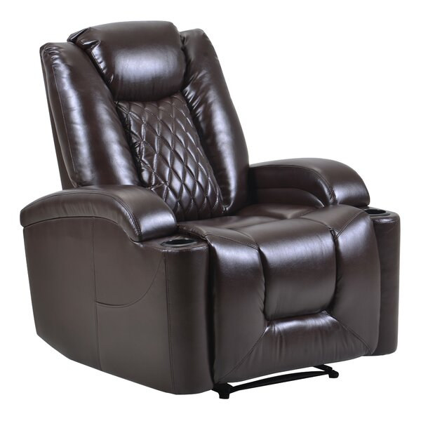 Darlane Faux Leather Power Glider Recliner W003385112